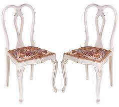 sedie chippendale coppia sedie shabby chic barocco chippendale primi 900 noce