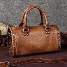 Handmade Leather Tote Bag - handmade grain leather handbags satchel bags tote