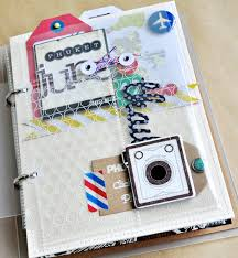 travel photo album pre vacation mini album w farina crate paper