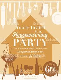 Housewarming by Housewarming Party Kitchen Invitation Stock Vector Art 537611997