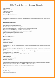 Sample Resume For Truck Driver by Resume Truck Driver Resume Summary Regularguyrant Best Resume