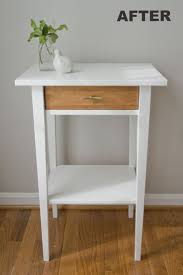 nightstand astonishing furniture narrow bedside table painted