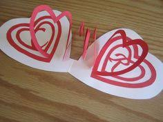 spiral heart pop up card template paper fun pinterest card