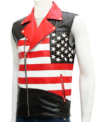 motorbike vest american flag vest for men u2013 leather jacket showroom