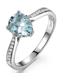 topaz engagement ring 1 carat pear cut topaz and diamond engagement ring for women