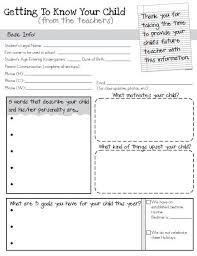 best 25 student info ideas on student info sheet