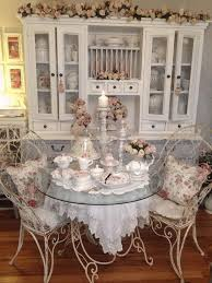 shabby chic dining room furniture black shade chandeliers white