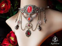 red gothic necklace images Goth shopaholic red selena 39 s elegant gothic jewelry from moscow jpg