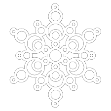 simple snowflake coloring pages kids coloring