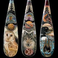 Decorative Canoe Paddles John Doherty Artist Port Hope Cobourg Ontario Hand