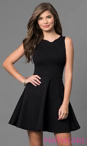 short sleeveless little black dress promgirl
