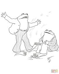 frog and toad are friends coloring page with and coloring pages