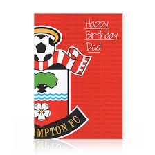 saints happy birthday card dad southampton fc