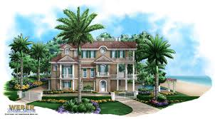 Beach House Building Plans Seaside Place Home Plan Caribbean Coastal Design 3 Story