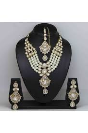 colour pearl necklace images And pearl necklace set in white colour jpg