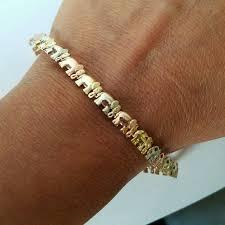 white gold yellow gold bracelet images Jewelry 14k white rose yellow gold elephant bracelet 745 poshmark jpeg