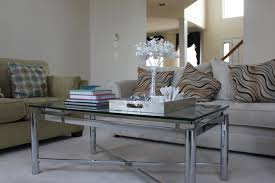 furniture mirrored coffee table brass and glass coffee table