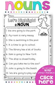 English Grammar Worksheets For Grade 2 Best 20 Nouns Worksheet Ideas On Pinterest Noun Activities