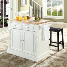 crosley kf300064wh butcher block top kitchen island in white w 24