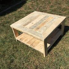 diy square coffee table pallet wood square coffee table