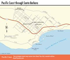 Map Of The East Coast Of Usa by Pacific Coast Route Santa Barbara California Road Trip Usa