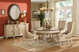 White Round Dining Room Table And Chairs Starrkingschool - Round white dining room table set