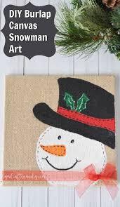 diy burlap canvas snowman craft gym craft laundry
