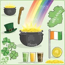 st patricks day irish symbols stock vector art 165031550 istock