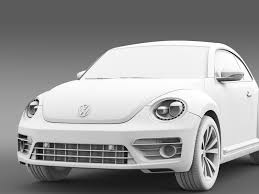 volkswagen beetle concept vw beetle pink edition concept 2015 3d model vehicles 3d models