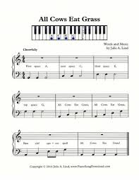 tutorial piano simple all cows eat grass perfect for beginners learning bass clef space