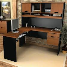 Simple L Shaped Desk Living Room Captivating Light Brown Colored L Shaped Desk With