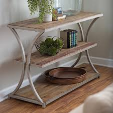 Distressed Sofa Table by Belham Living Edison Reclaimed Wood Coffee Table Hayneedle