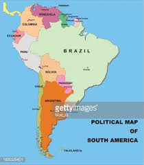 map of south america political map of south america in vector format vector getty