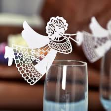aliexpress com buy 50pcs new flying angel laser cut diy wine
