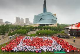 Flags Of The Wrld Canada Day Living Flag Downtown Winnipeg Bizdowntown Winnipeg Biz