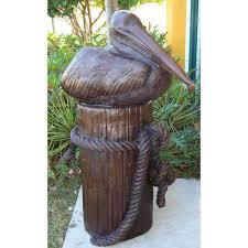 pelican outdoor bronze statue