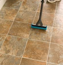 never use a sponge mop to clean ceramic tile floors it pulls the