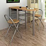 Oak Breakfast Bar Table Camberley Oak Breakfast Bar Table And Chair Set In Light Oak
