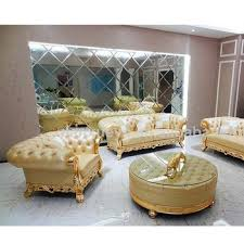 Leather Sofa Seat Chesterfield Golden Color Leather Sofa Seat With Center