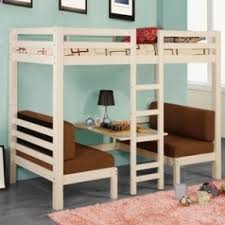 Bunk Bed With Table Underneath Foter - Half bunk bed