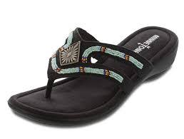 minnetonka womens roswell sandal black size 7 us women u0027s shoes
