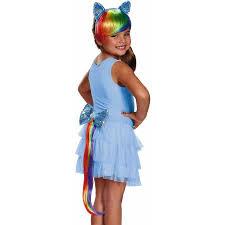 Rainbow Halloween Costume Pony Rainbow Dash Headpiece Tail Halloween Costume