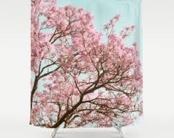 Cherry Blossom Curtains Cherry Blossom Decor Etsy