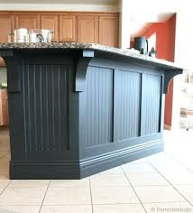 kitchen island makeover wainscoting kitchen kitchen island makeover with corbels part two