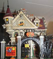 images of halloween decorated houses department 56 mickey u0027s haunted house snow village halloween