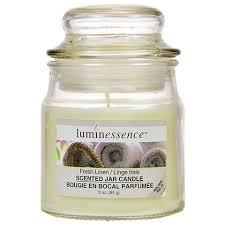 bulk luminessence fresh linen mini glass apothecary jar candles 3