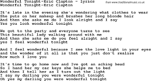 download mp3 you look so beautiful in white love song lyrics for wonderful tonight eric clapton