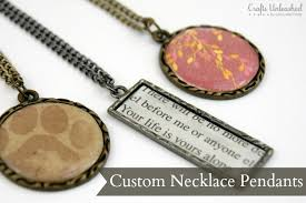 custom necklace pendants pendants for necklaces an easy step by step tutorial