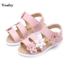 yeafey three flower kids sandals girls summer princess shoes baby