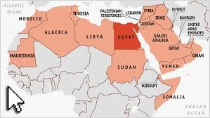 arab map mapping the arab world arab league map